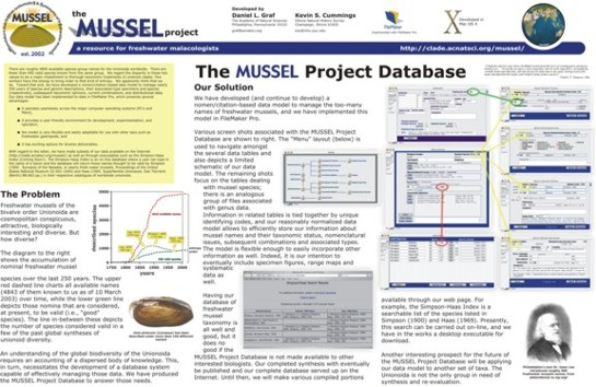 The MUSSEL Project Database